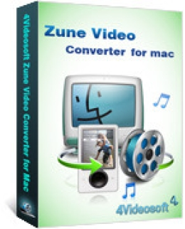 4Videosoft Zune Video Converter for Mac