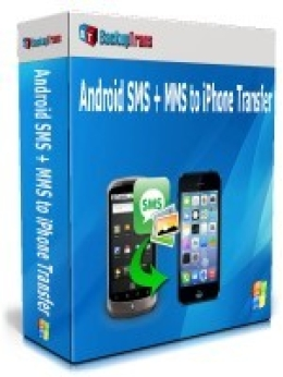 Backuptrans Android SMS + MMS to iPhone Transfer (Family Edition)