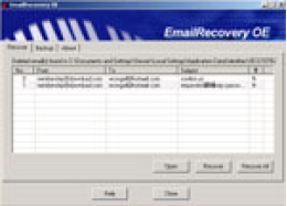 EmailRecovery for OE