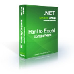 Html To Excel .NET - Site License