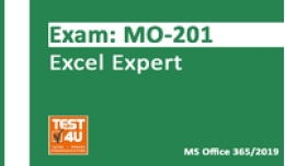 15% MO-201 Excel Expert Exam - Office 365 & Office 2019 - English version - 25 hours of access Promo Code