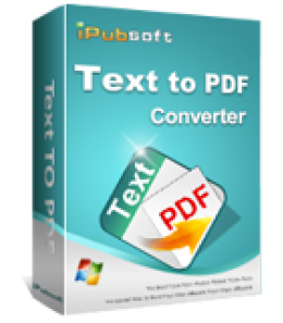 iPubsoft Text to PDF Converter